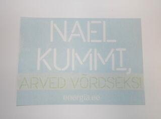 Tekstikkleebis - Nael Kummi, arved võrdseks!