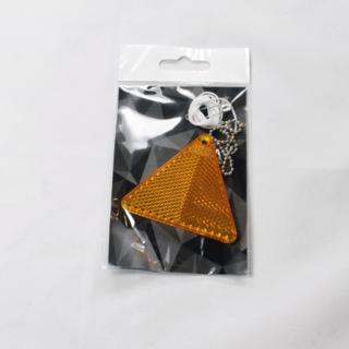 Oranz kolmnurk plastikhelkur