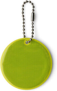 Round reflective key holder