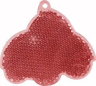 Reflector car 64x59mm red