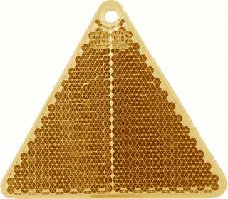 Reflector triangle 67x59mm orange