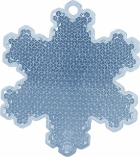 Reflector snowflake 58x66mm blue