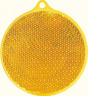 Reflector round 55x61mm orange
